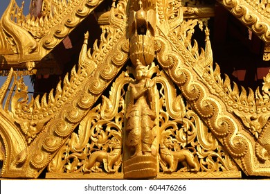 Details of temple's roof in Myanmar