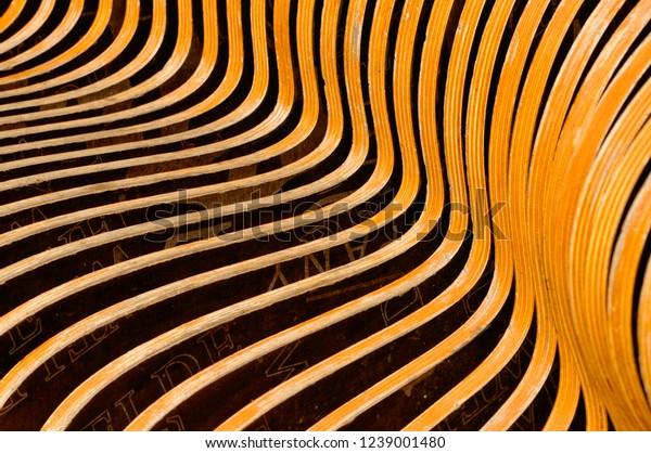 Details Texture Wood Bank Park Stock Photo Edit Now 1239001480