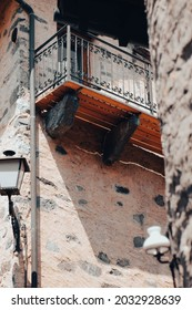 Details of ticinese balcony from vacation, streetphotography