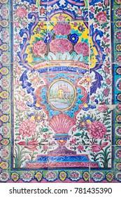 Details of tiles in Shiraz, Iran
