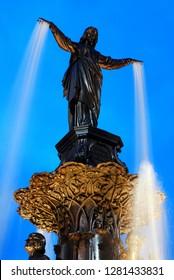 Details of the top of the Tyler Davidson Fountain (1867), Cincinnati, Ohio