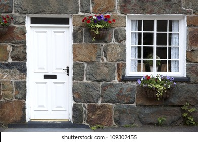Details of traditional cottage. Village in Snowdonia, North Wales, UK
