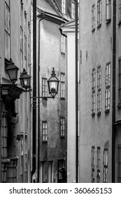 Details of typical street lighting in the streets of Stockholm