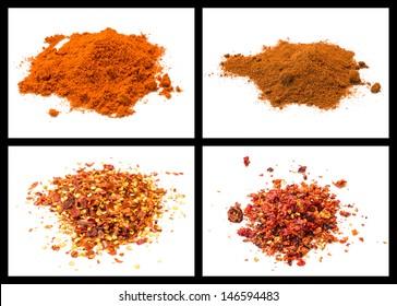 details of various peppers: cajenna, habaneros red savina seed, ancho usa, capsico, naga viper