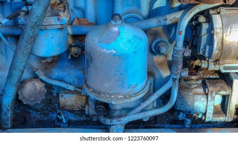 Details of a very old tractor, mechanical parts