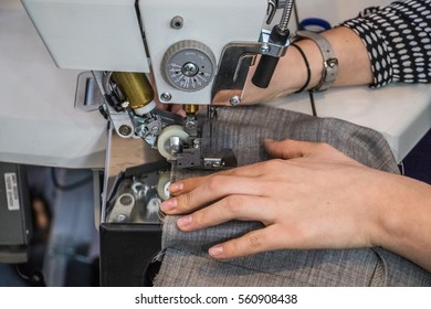 details view of garment apparel machinery