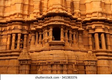 Details view inside Jaisalmer fort castle, Rajasthan,India.