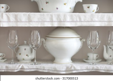 Details of vintage ceramic crockery