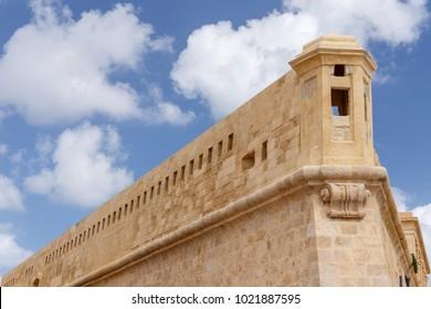 Details of walls at Fort St. Elmo in Valletta, Malta.