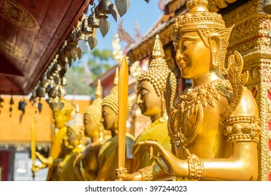 Details from Wat Phra That Doi Suthep in Chiang Mai. This Buddhist temple founded in 1383 is the most famous in Chiang Mai.