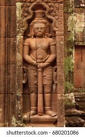 Details of Wat Phu Champasak temple in Laos
