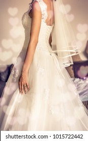 Details of the wedding, bride and wedding dress