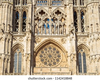 Details of the west facade of the Cathedral of Saint Mary - Burgos, Castile and Leon, Spain
