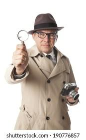 detective on white