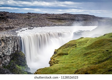 Detifoss waterfall - the most powerful waterfall on Iceland