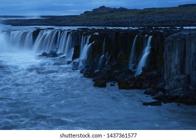 Detifoss waterfall in Northern Iceland summer