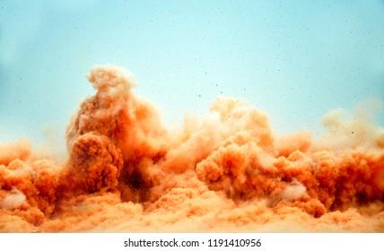 Detonator control blasting in the desert