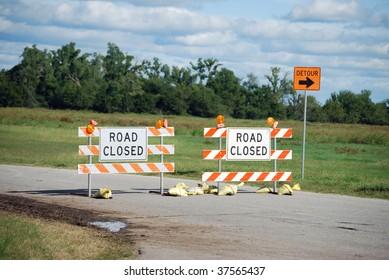 Detour Road Closed