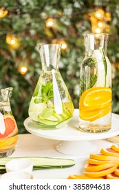Detox citrus infused water as a refreshing summer drink.