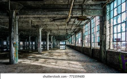Detroit Abandon Factory Ruin