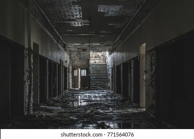 Detroit Abandoned Urban Exploration Hallway
