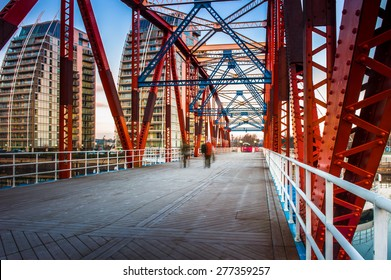 The Detroit Bridge in Salford Quays, Manchester, England