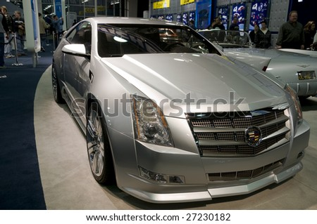 Detroit Jan 12 Cadillac Cts Coupe Stock Photo Edit Now 27230182