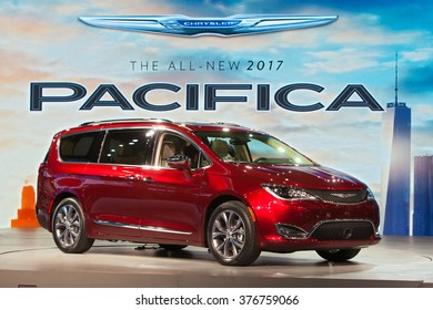 DETROIT - JANUARY 11: The 2017 Chrysler Pacifica on display at the North American International Auto Show media preview January 11, 2016 in Detroit, Michigan.