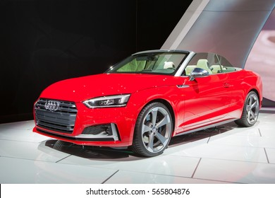 DETROIT - JANUARY 12: The 2018 Audi S5 on display at the North American International Auto Show media preview January 12, 2017 in Detroit, Michigan.