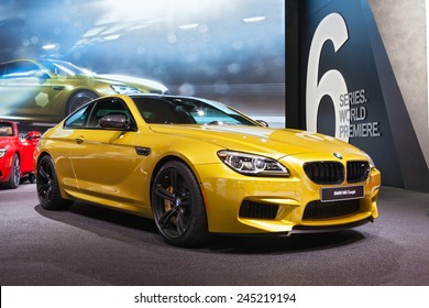 DETROIT - JANUARY 12: The BMW M6 Coupe on display January 12th, 2015 at the 2015 North American International Auto Show in Detroit, Michigan.