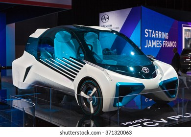 DETROIT - JANUARY 12: The Toyota FCV Plus concept on display at the North American International Auto Show media preview January 12, 2016 in Detroit, Michigan.