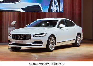 DETROIT - JANUARY 13: The Volvo s90 on display at the North American International Auto Show media preview January 13, 2016 in Detroit, Michigan.