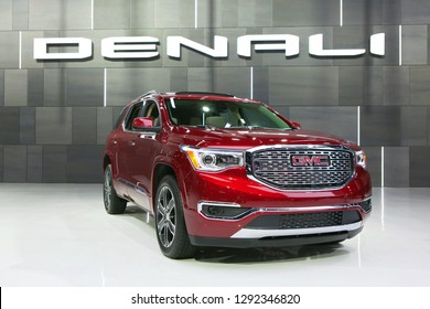 DETROIT - JANUARY 14: A GMC Denali SUV on display at the North American International Auto Show media preview January 14, 2019 in Detroit, Michigan.