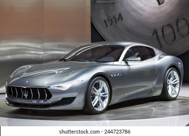 DETROIT - JANUARY 15: The Maserati Alfieri concept January 13th, 2015 at the 2015 North American International Auto Show in Detroit, Michigan.