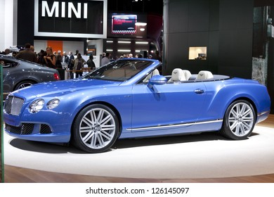 DETROIT - JANUARY 27 :The new 2014 Bentley Continental GTC Convertible at The North American International Auto Show January 27, 2013 in Detroit, Michigan.