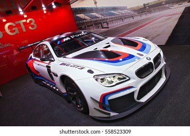 DETROIT - JANUARY 9: The BMW GT3 M6 race car on display at the North American International Auto Show media preview January 9, 2017 in Detroit, Michigan.