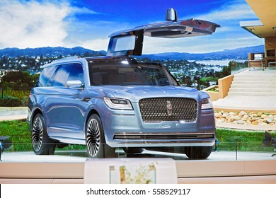 DETROIT - JANUARY 9: Lincoln Navigator concept on display at the North American International Auto Show media preview January 9, 2017 in Detroit, Michigan.