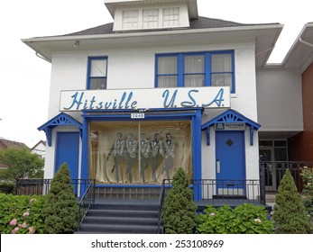 DETROIT - JULY 31: The first Motown headquarters located in Detroit, Michigan on July 31, 2014. Motown is an American record label primarily associated with African-American pop, soul and R&B music.