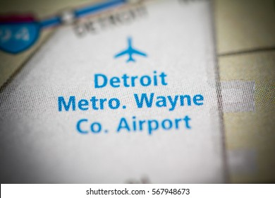 Detroit Metro. Wayne Co. Airport. Michigan. USA