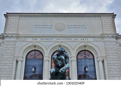 DETROIT, MI -10 NOV 2018- View of the landmark Detroit Institute of Arts (DIA), a major American art museum located in Midtown Detroit, Michigan.