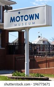 DETROIT, MI - April 26. 2014. The Hitsville U.S.A. Motown building at 2648 West Grand Boulevard in Detroit. Motown Historical Museum. Detroit. MI. USA