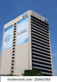 DETROIT, MI - JULY 6: Blue Cross Blue Shield of Michigan, whose headquarters in Detroit  are shown on July 6, 2014, was named to DiversityInc's Top 10 regional companies for diversity management.