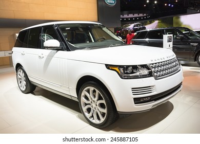 DETROIT, MI, USA - JANUARY 12, 2015: Range Rover on display during the 2015 Detroit International Auto Show at the COBO Center in downtown Detroit.