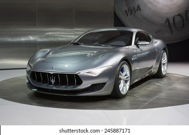 DETROIT, MI, USA - JANUARY 12, 2015: Maserati Alfieri concept car on display during the 2015 Detroit International Auto Show at the COBO Center in downtown Detroit.