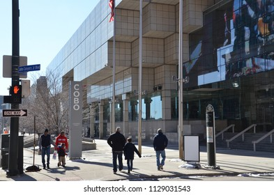 DETROIT, MI / USA - MARCH 2, 2018:  Cobo Center convention center, shown here, hosts the North American International Auto Show.