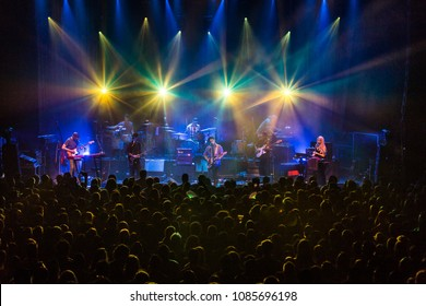 Detroit, MI / USA - March 3, 2018: Modest Mouse performs their second of two shows live at The Fillmore in Detroit.