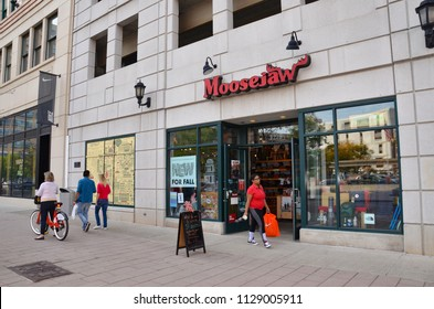 DETROIT, MI / USA - OCTOBER 21, 2017:  Moosejaw, whose Detroit store is shown here, has 10 stores in the United States.