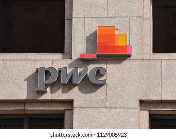 DETROIT, MI / USA - OCTOBER 21, 2017:  PwC, whose Detroit office is shown here, has over 700 locations worldwide