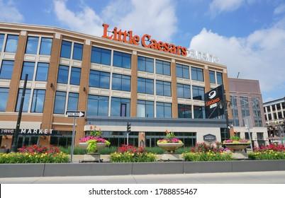 Detroit, Michigan - Jul 2020: Little Caesar Hockey Arena