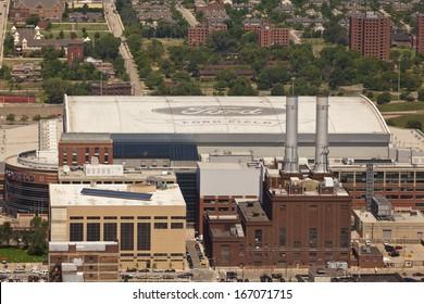 Detroit, Michigan, July 2013. Ford Field, Downtown Detroit, MI